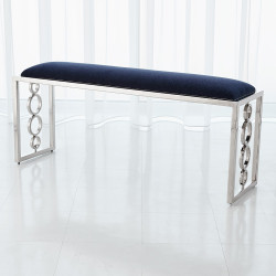 Global Views Progressive Ring Bench - Nickel - Admiral Blue