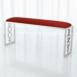 Global Views Progressive Ring Bench - Nickel - Red Pepper