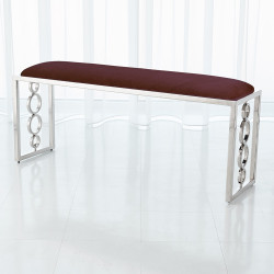 Global Views Progressive Ring Bench - Nickel - Sultana Lavender
