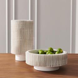 Global Views Radiator Vase - Matte White - Low