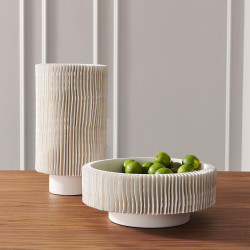 Global Views Radiator Vase - Matte White - Tall
