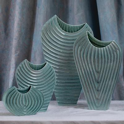 Global Views Ripple Vase - Azure - Sm