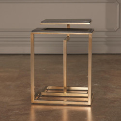 Global Views S/2 C - Nesting Tables - Brass