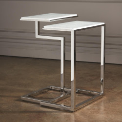 Global Views S/2 C - Nesting Tables - Nickel