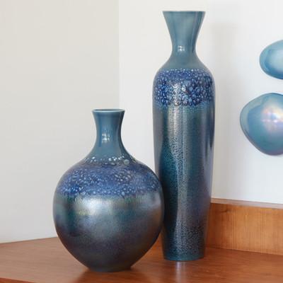 Global Views Sapphire Ombre Bottle - Lg
