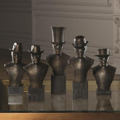 Global Views Top Hat Sculpture Flat Brim