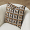 Global Views Triangle Marquetry Pillow