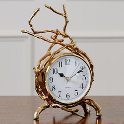 Global Views Twig Clock - Brass