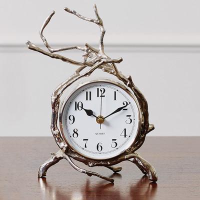 Global Views Twig Clock - Nickel