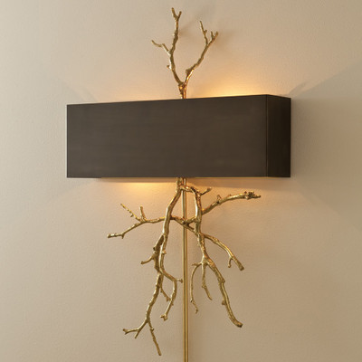 Global Views Twig Wall Sconce - Brass/Bronze