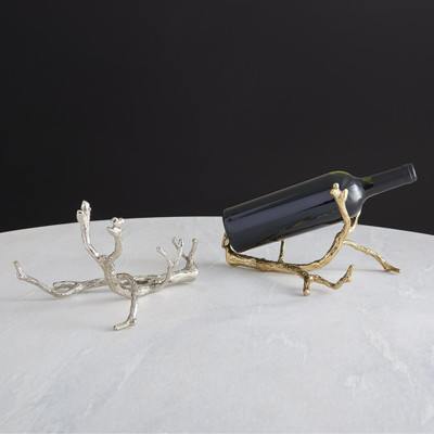 Global Views Twig Wine Bottle Holder - Brass