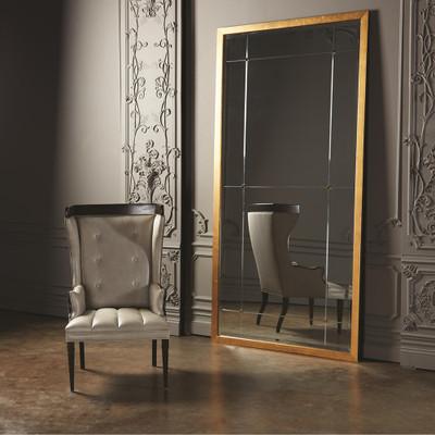 Global Views Wrenn Chair - Fabric/Leather Combo