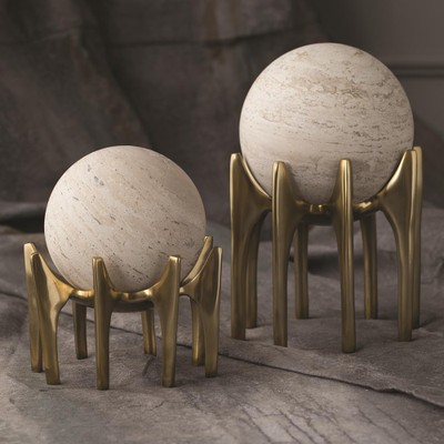 Studio A Aquilo Sphere Holder - Antique Brass - Lg