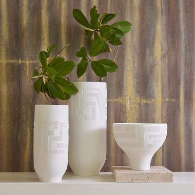 Studio A Chaco Vase - Matte White - Lg