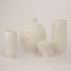 Chaco Vase - Matte White - Lg