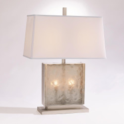 Studio A Cube Slab Table Lamp - Antique Nickel