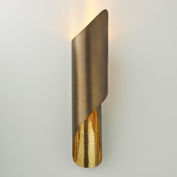 Studio A Curl Wall Sconce - Antique Brass - HW