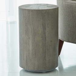 Studio A Driftwood Drum Table - Grey