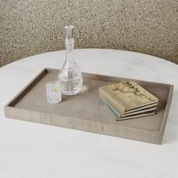 Studio A Driftwood Ottoman Tray - Grey