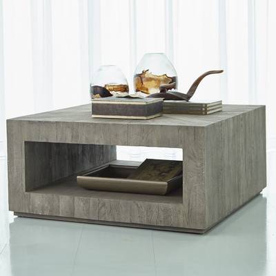 Studio A Driftwood Square Coffee Table - Grey