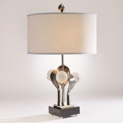 Studio A Eden Table Lamp - Nickel