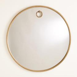 Studio A Exposed Mirror - Antique Brass - Lg