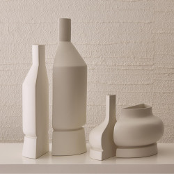Studio A Flat Back Compote - Matte White