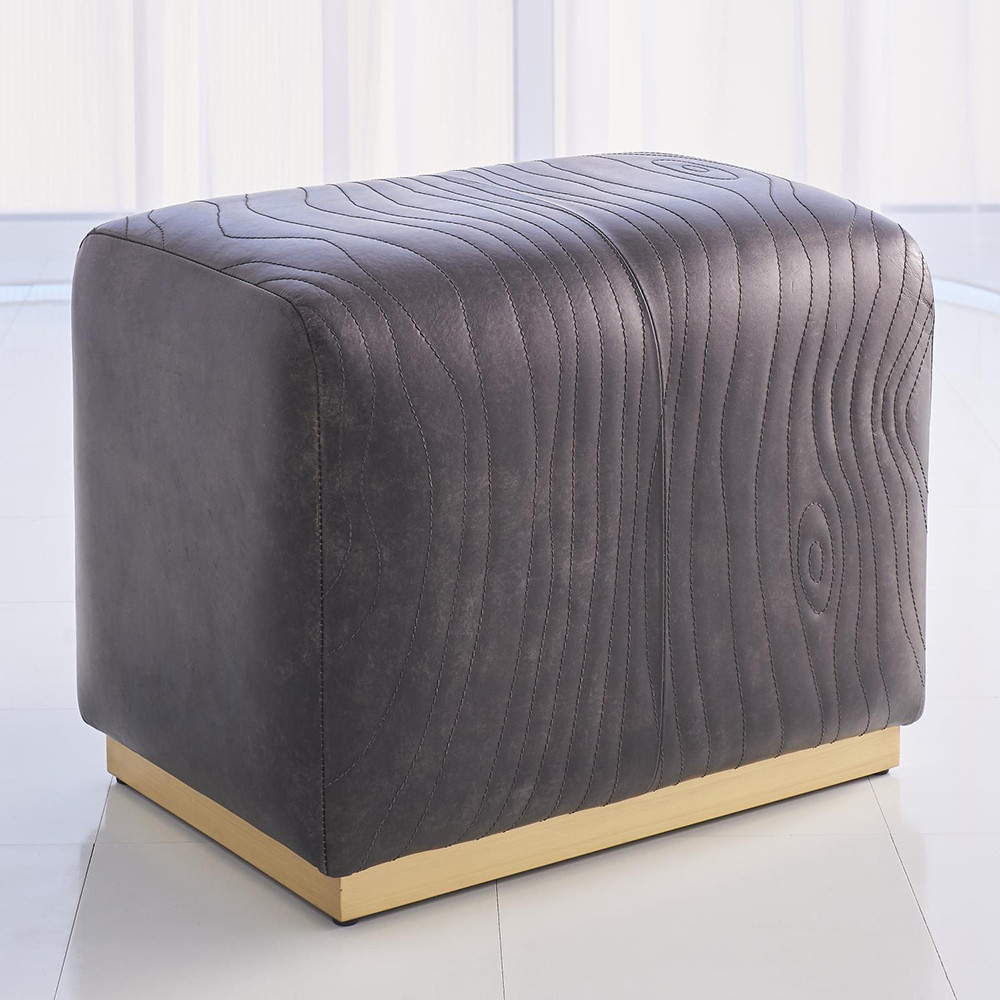 Tremendous Studio A Forest Ottoman Charcoal Leather Andrewgaddart Wooden Chair Designs For Living Room Andrewgaddartcom