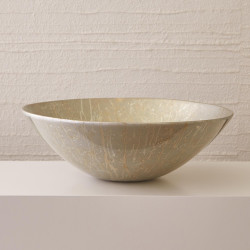 Studio A Grand Bowl - Champagne Silver Leaf