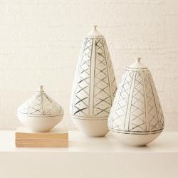 Studio A Grenz Vase - Hand Painted - Med