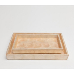 Pigeon & Poodle Andria Tray Set - Smoked