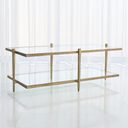 Studio A Laforge Cocktail Table - Antique Gold