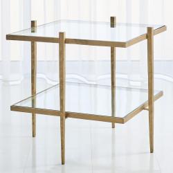 Studio A Laforge End Table - Antique Gold