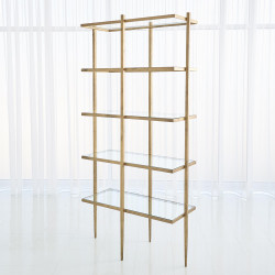 Studio A Laforge Etagere - Antique Gold