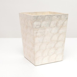 Pigeon & Poodle Andria Waste Basket - Pearlized - Square