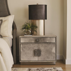 Studio A Metro Nightstand - Grey Hair - on - Hide