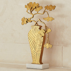 Studio A Ming Bonsai Sculpture - Antique Gold