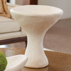 Studio A Modernist Urn - White Plaster