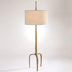 Studio A Riley Floor Lamp - Gold Leaf