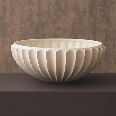 Studio A Sawtooth Bowl - Rustic White