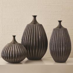 Studio A Sawtooth Vase - Graphite - Sm