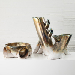 Studio A Tube Sculpture - Raku