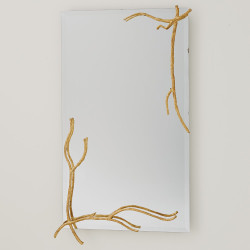 Studio A Twig Mirror - Gold Leaf - Lg