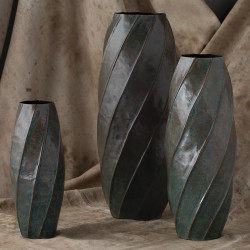 Studio A Twisted Vase - Blue Patina - Sm