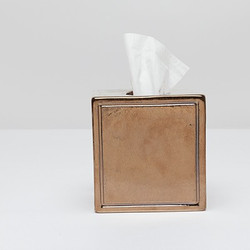 Pigeon & Poodle Finley Tissue Box - Gold