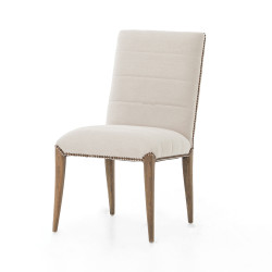 Four Hands Nate Dining Chair - Dark Linen