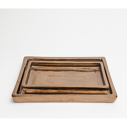 Pigeon & Poodle Finley Tray Set - Gold