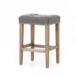 Four Hands Sean Counter Stool W/Kickplate - Dark Moon