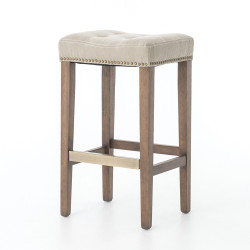 Four Hands Sean Bar Stool W/Kickplate - Desert Canvas