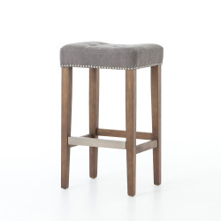 Four Hands Sean Bar Stool W/Kickplate - Dark Moon Can